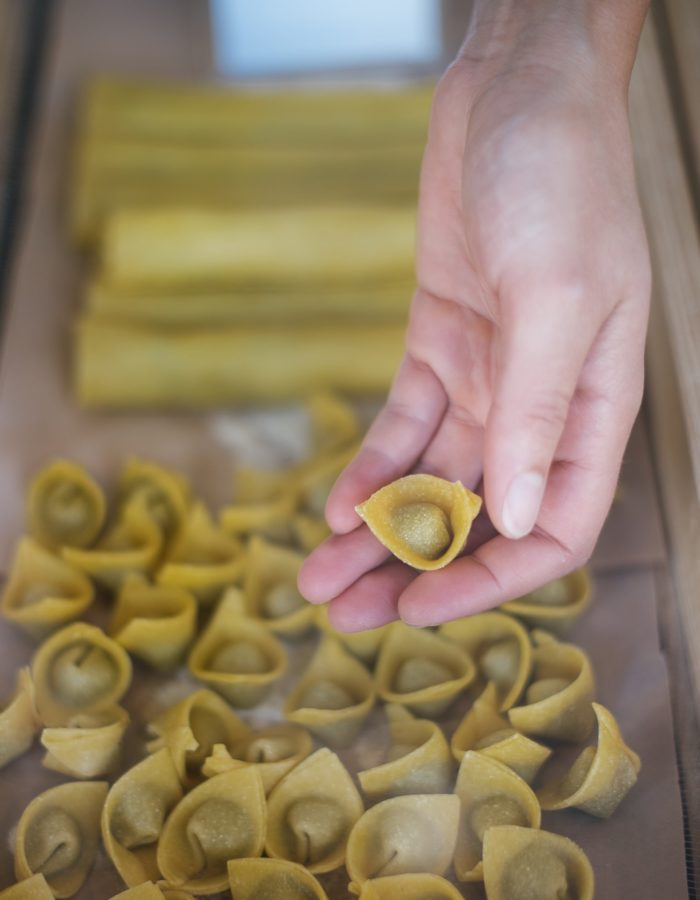 Tortelli med svampefyld fra Il Mattarello